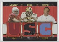 Matt Leinart, Reggie Bush, LenDale White #/36