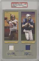 Joe Montana, Peyton Manning [PSA Authentic] #/25