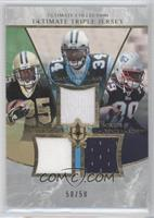 Reggie Bush, DeAngelo Williams, Laurence Maroney #/50