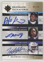 DeAngelo Williams, Laurence Maroney, Joseph Addai /20