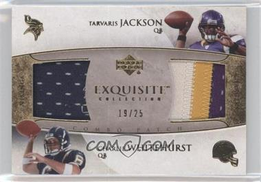 2006 Upper Deck Exquisite Collection - Combo Patch #ECP-JW - Charlie Whitehurst /25