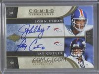 John Elway, Jay Cutler [Noted] #/20