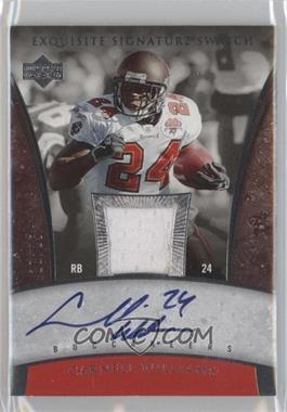 2006 Upper Deck Exquisite Collection - Signature Swatch #ESS-CW - Cadillac Williams /25