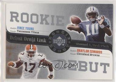 2006 Upper Deck Rookie Debut - Debut Draft Link #DDL-29 - Vince Young, Braylon Edwards