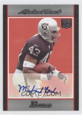 2007 Bowman - Rookie Autographs #BAV-MB - Michael Bush /199