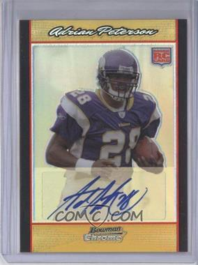 2007 Bowman Chrome - [Base] - Rookie Autographs Gold Refractor [Autographed] #BC65 - Adrian Peterson /50
