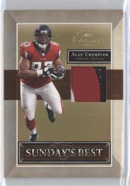 2007 Donruss Classics - Sunday's Best - Jerseys Prime [Memorabilia] #SB-8 - Alge Crumpler /25