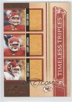 Larry Johnson, Tony Gonzalez, Trent Green #/1,000