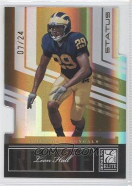 2007 Donruss Elite - [Base] - Status Gold Die-Cuts #170 - Leon Hall /24