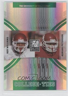 2007 Donruss Elite - College Ties - Green #CT-2 - Roy Williams, Adrian Peterson /800