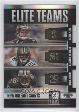 2007 Donruss Elite - Elite Teams - Black #ET-14 - Drew Brees, Deuce McAllister, Reggie Bush /800