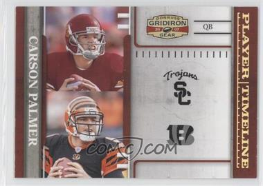 2007 Donruss Gridiron Gear - Player Timeline - Gold #PT-1 - Carson Palmer /100