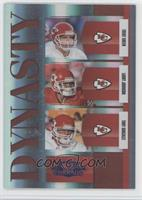 Larry Johnson, Tony Gonzalez, Trent Green #/100