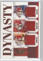 Larry Johnson, Tony Gonzalez, Trent Green #/250