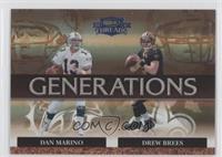 Dan Marino, Drew Brees #/100