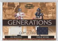 Eli Manning, Philip Rivers #/250
