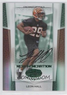 2007 Leaf Certified Materials - [Base] - Mirror Emerald Signatures [Autographed] #171 - Leon Hall /5