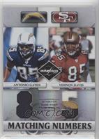 Vernon Davis, Antonio Gates #/25