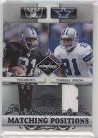 Terrell Owens, Tim Brown #/100