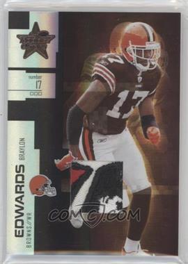 2007 Leaf Rookies & Stars - [Base] - Longevity Parallel Black Prime Materials [Memorabilia] #72 - Braylon Edwards /10