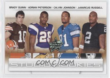2007 Leaf Rookies & Stars - Studio Rookies #SR-53 - Adrian Peterson, JaMarcus Russell, Brady Quinn, Calvin Johnson