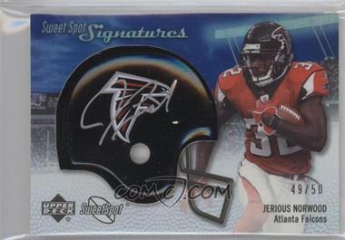 2007 NFL Sweet Spot - Signatures Tier 3 - Silver 50 #SSS-JN - Jerious Norwood /50