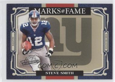 2007 Playoff Absolute Memorabilia - Marks of Fame #MOF-22 - Steve Smith /100
