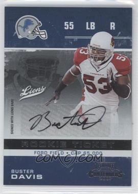 2007 Playoff Contenders - [Base] #122 - Buster Davis /246