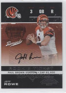 2007 Playoff Contenders - [Base] #167 - Jeff Rowe /362