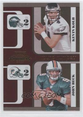 2007 Playoff Contenders - Round Numbers #RN-14 - John Beck, Kevin Kolb /1000