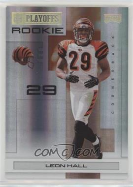 2007 Playoff NFL Playoffs - [Base] - Gold Holofoil #142 - Leon Hall /25