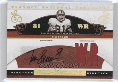 2007 Playoff National Treasures - [???] #AD-TB - Tim Brown /25