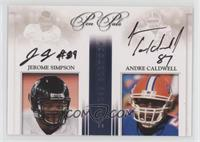 Jerome Simpson, Andre Caldwell /30