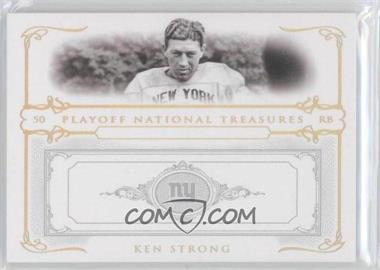 2007 Playoff National Treasures - [Base] - Gold #59 - Ken Strong /5