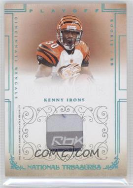 2007 Playoff National Treasures - [Base] - Prime Materials Laundry Tags [Memorabilia] #120 - Kenny Irons /10