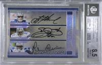 Michael Irvin, Troy Aikman, Emmitt Smith /15 [BGS 8.5 NM‑MT+]