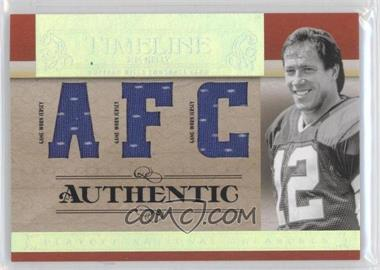 2007 Playoff National Treasures - Timeline - AFC/NFC Jersey #T-JK - Jim Kelly /25