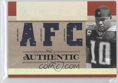 2007 Playoff National Treasures - Timeline - AFC/NFC Jersey #T-VY - Vince Young /25