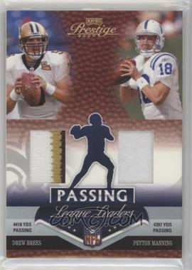 2007 Playoff Prestige - League Leaders - Materials [Memorabilia] Without Serial Number #LL-1 - Drew Brees, Peyton Manning