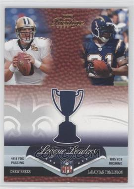 2007 Playoff Prestige - League Leaders #LL-21 - Drew Brees, LaDainian Tomlinson, Larry Johnson, Peyton Manning