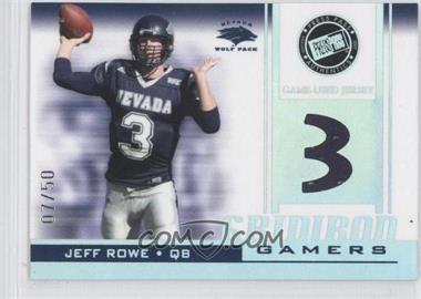 2007 Press Pass - Gridiron Gamers - Holofoil #GG-JR2 - Jeff Rowe /50