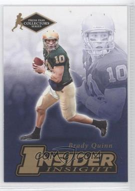 2007 Press Pass Collectors Series - [???] #II-19 - Brady Quinn