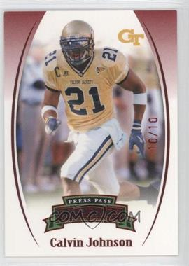 2007 Press Pass Legends - [Base] - Red #24 - Calvin Johnson /10