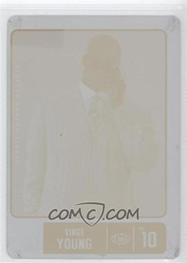 2007 SAGE Hit - [Base] - Printing Plate Yellow #VY - Vince Young /1