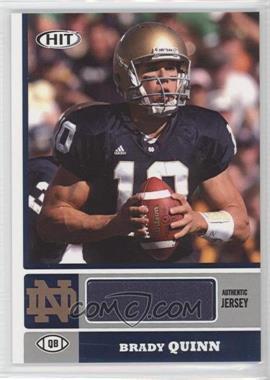 2007 SAGE Hit - Jerseys #BQ - Brady Quinn