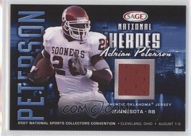 2007 SAGE National Heroes - National Convention [Base] #NH-2 - Adrian Peterson