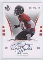 Rookie Authentics Signatures - David Irons #/1,199
