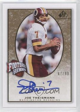 2007 SP Chirography - Football Heroes - Gold #FH-JT - Joe Theismann /99