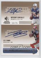 Anthony Gonzalez, Lee Evans /75