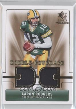 2007 SP Rookie Threads - Double Coverage #DC-AR - Aaron Rodgers
